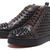 Christian Louboutin Black Studded Dark Brown Hi-Top Sneakers :
