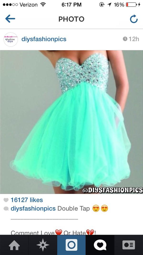 prom dress mint dress