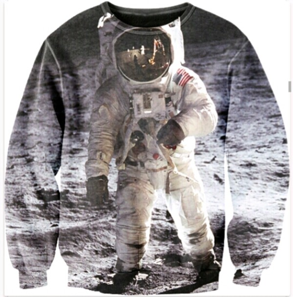 sweater crewneck sweater outer space space science printed sweater science streetstyle
