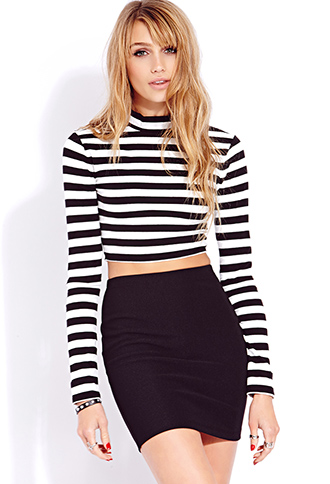 Standout Striped Crop Top   FOREVER21 - 2000110701