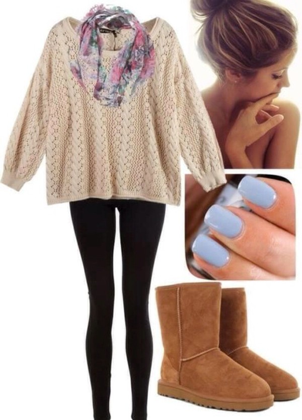 scarf ariana grande nail polish sweater
