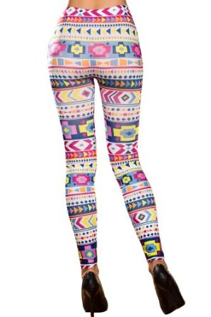 Amazon.com: Amour- Women's Pattern Leggings Cotton Stretch Pants - Many Designs (Colorful Aztec): Clothing