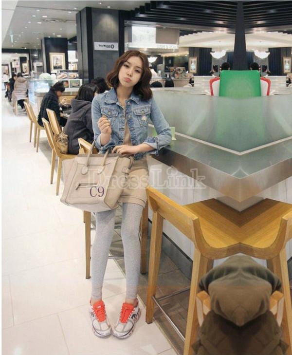 coat korean fashion denim denim jacket