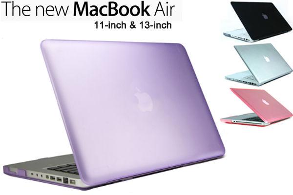 NEW Apple Macbook Air 11 inch & 13 inch case cover in purple pink white black UK   eBay