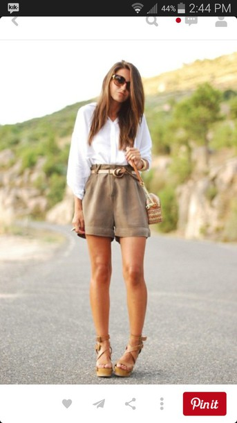 shorts etsy pintrest pants beige high end shoes