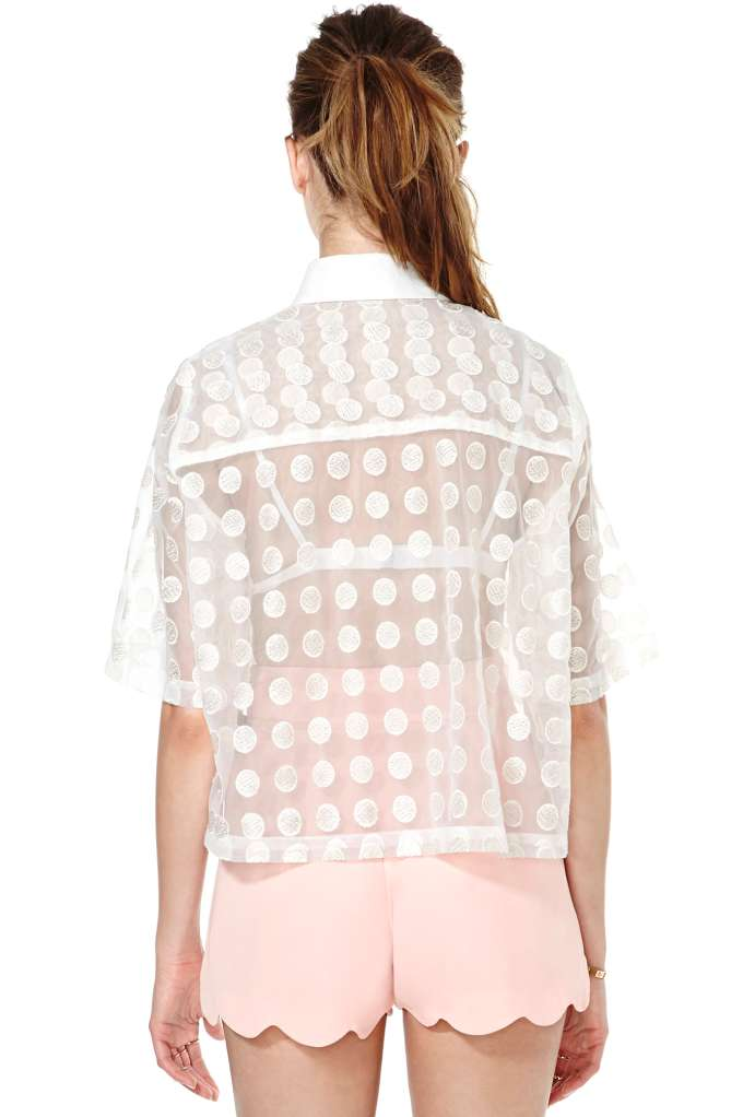 Whitney Eve Dot Up Blouse at Nasty Gal