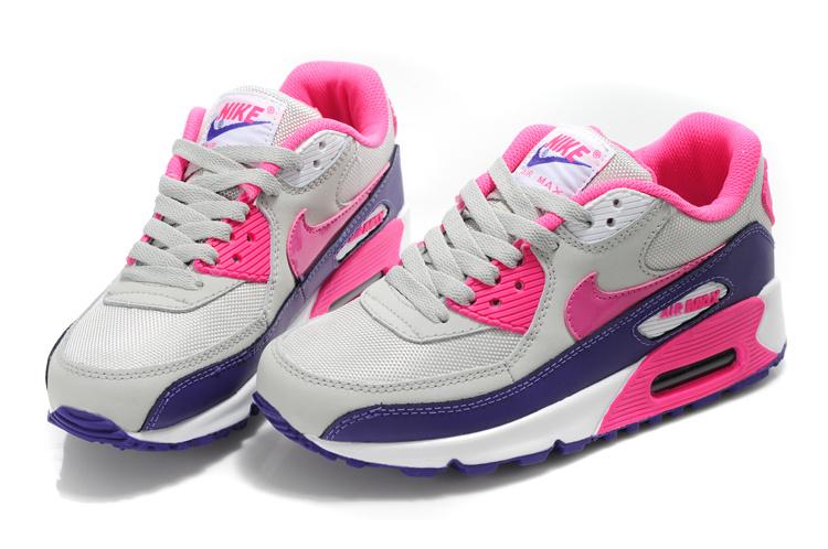 Nike Air Max 90 Womens Purple/White/Pink : Cheap Nike Air Max Trainers UK Shop