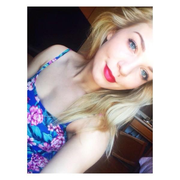 dress floral bright neon summer dress
