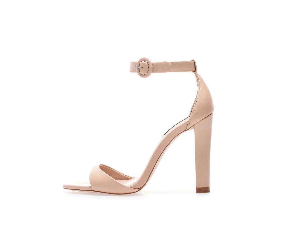 Zara Leather Wide Heel Sandal 36 41 Ref 2360 301 | eBay