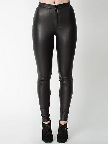Stretch Leather Pant   American Apparel
