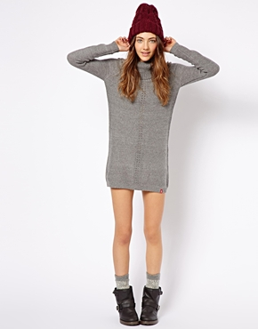 Esprit | Esprit Roll Neck Knitted Dress at ASOS