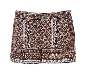 Zara Stones Sequin Embroidered Shorts Ethnic Mirror Bloggers Size XS New BNWT | eBay