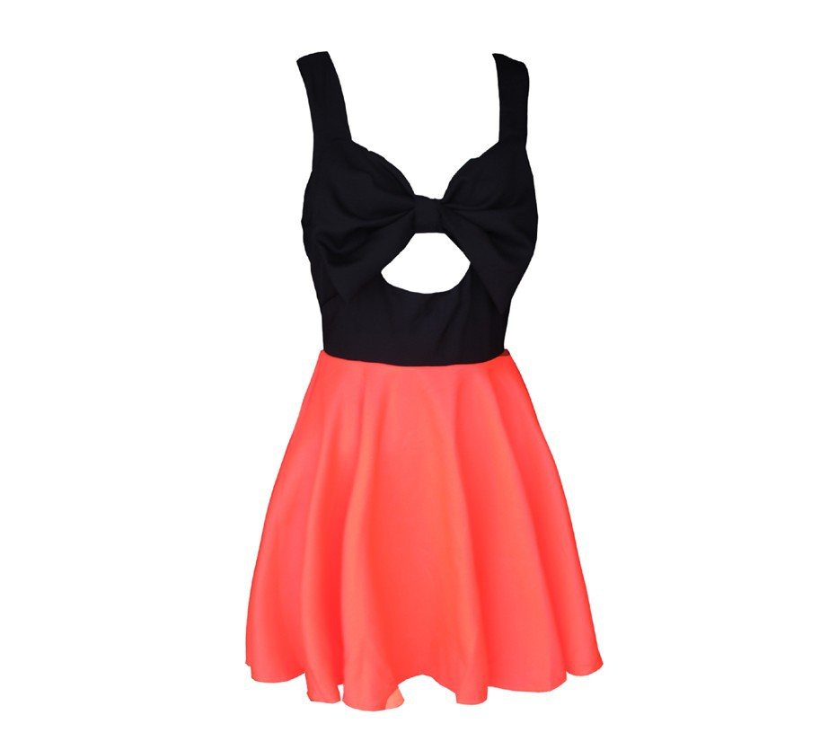 Aliexpress.com : Buy Free shiping Hollow chest bow dress party dress Hollow halter dress J324 from Reliable party mini dress suppliers on ED FASHION