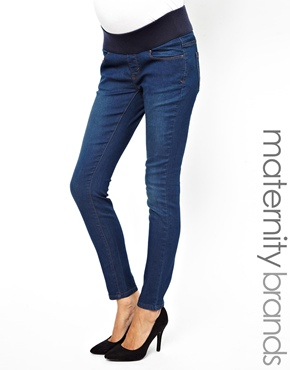 New Look Maternity   New Look Maternity Supersoft Jean In Mid Wash at ASOS