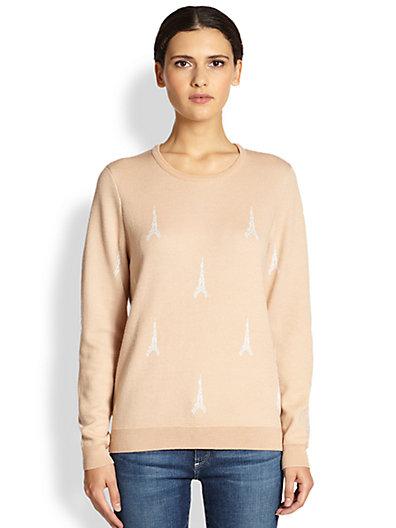 Joie - Valera Eiffel Tower-Print Sweater - Saks.com