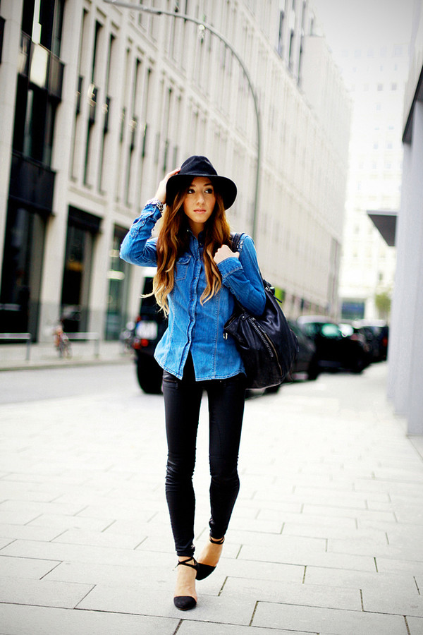 flirting with fashion coat jeans shoes shirt bag hat scarf