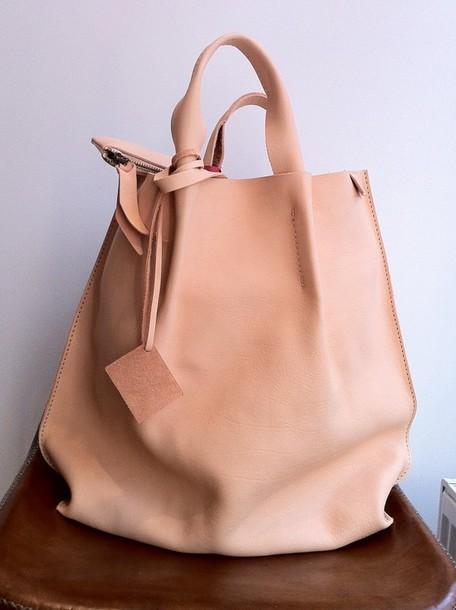 bag nude leather leather bag