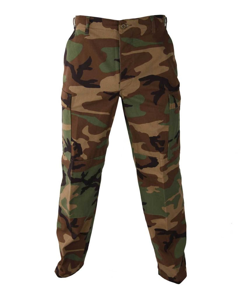 Woodland Camo BDU Pants Military Army Cargo Fatigue Camouflagetrousers Bottoms | eBay