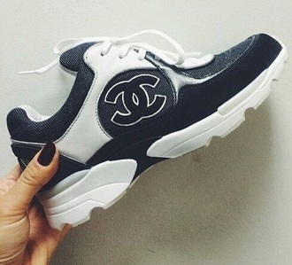 shoes navy chanel inspired chanel trainers trainers pumps style chanel sneakers