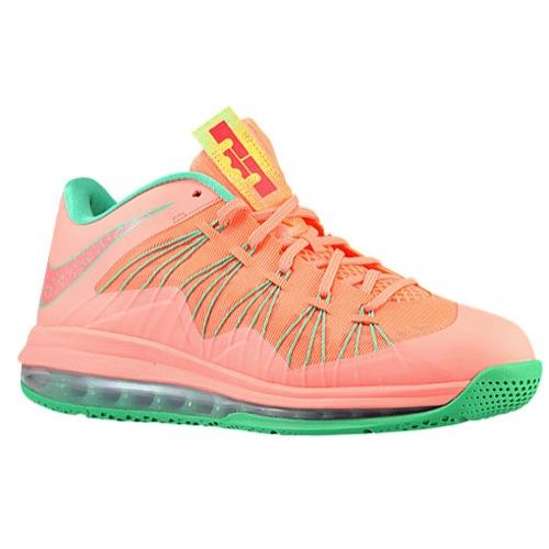 Nike Air Max LeBron X Low - Men's - Basketball - Shoes - Bright Mango/Mango/Laser Orange