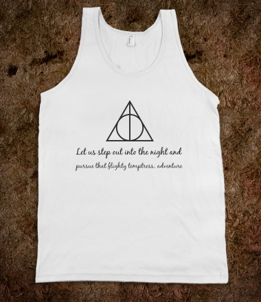 Deathly Hallows Tank with quote - Often Imitated - Skreened T-shirts, Organic Shirts, Hoodies, Kids Tees, Baby One-Pieces and Tote Bags Custom T-Shirts, Organic Shirts, Hoodies, Novelty Gifts, Kids Apparel, Baby One-Pieces | Skreened - Ethical Custom Apparel