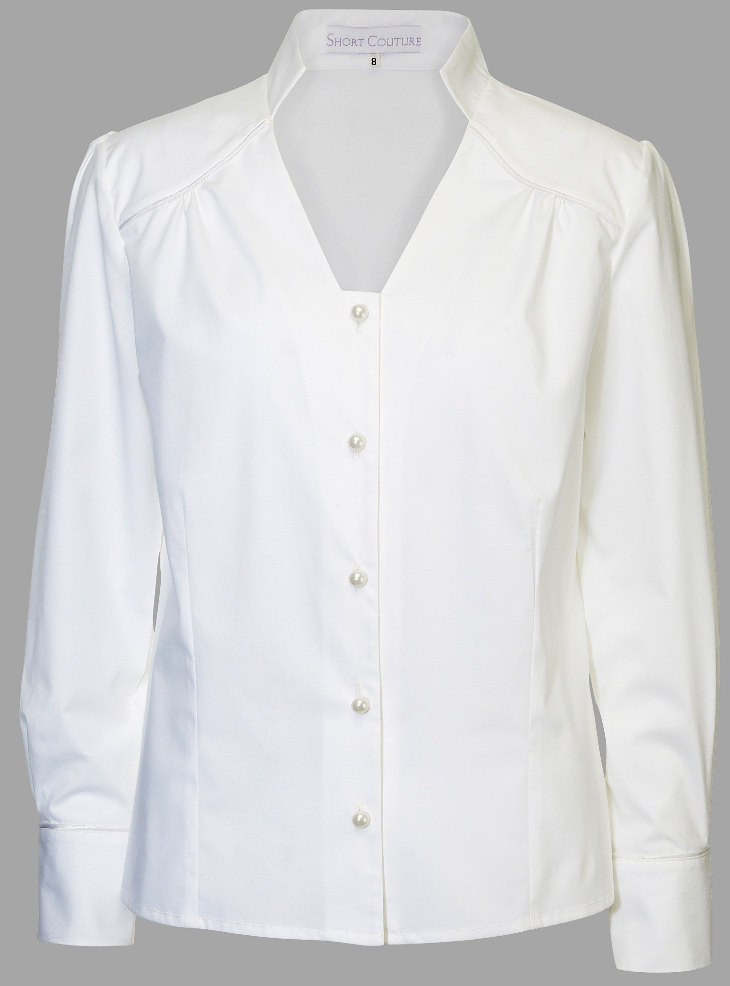Petite White Blouse Fitted for Short Women