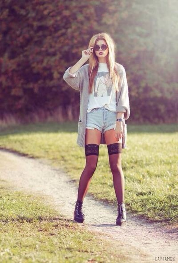 shorts denim shorts denim cut off shorts mid waisted shorts sweater