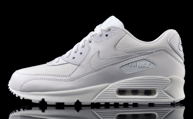 Nike Air Max 90 Premium - White Leather | Sneaker Bar Detroit