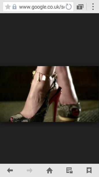 jewels pretty little liars sasha pieterse high heels animal print