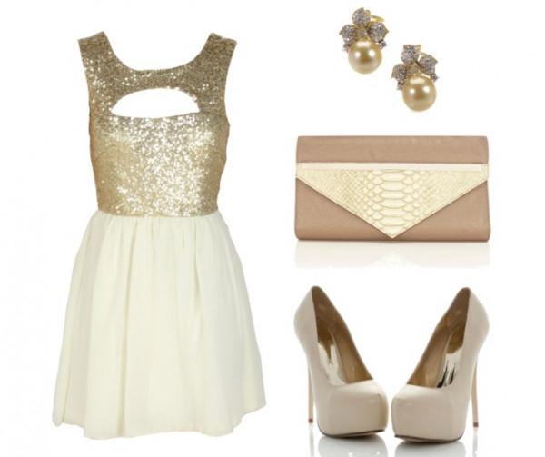 dress cute dress purse high heels shoes