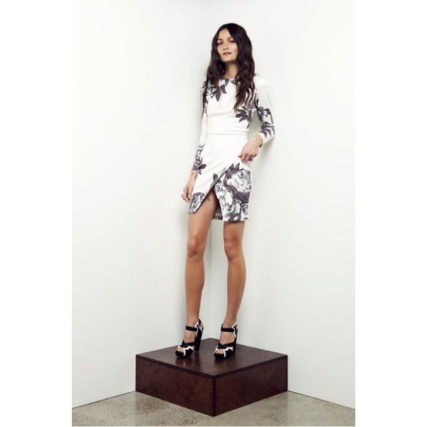Maurie and Eve Madison Long Sleeve Dress in Grey Bloom - Mau... - Polyvore
