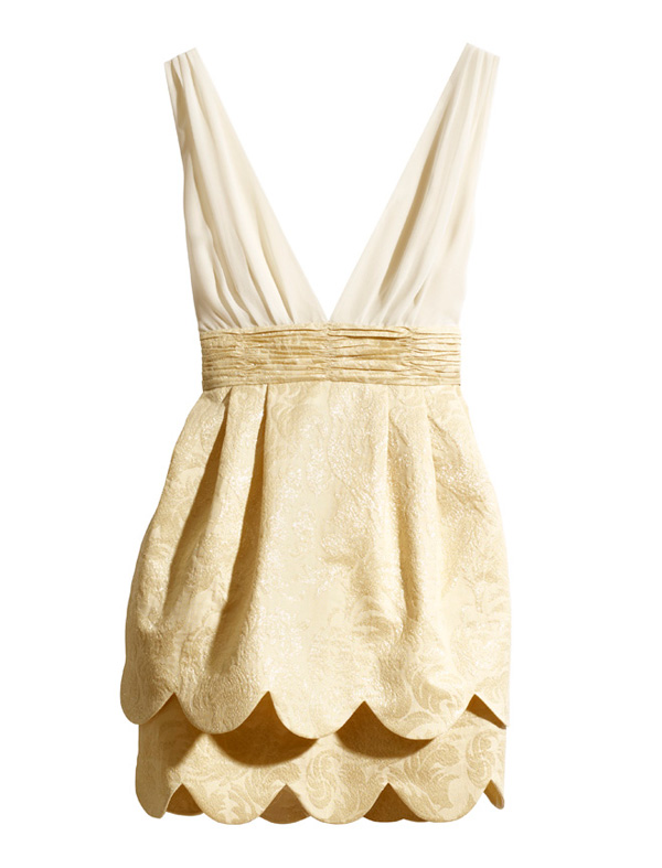 H M Conscious Collection Party Zara Gold Scallop Mini Dress Tulip Sold Out Blog | eBay