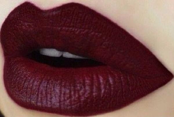 lipstick nail polish wine