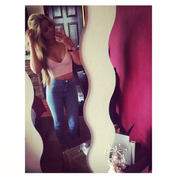 top missguided crop tops pink crop top reveling style