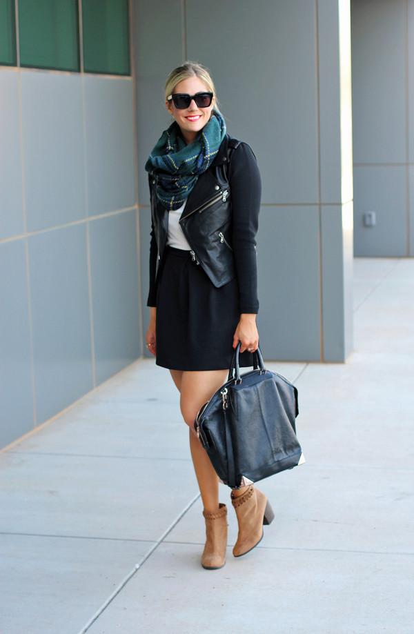devon rachel t-shirt skirt scarf jacket