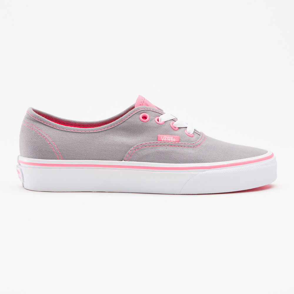 Vans Authentic Neon Pop Frost Grey Pink Womens Shoe Classic Trainers All Sizes   eBay