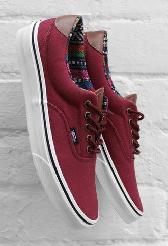 shoes vans vintage authentics native print