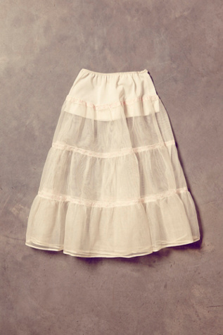 free people womens vintage embroidered tulle skirt