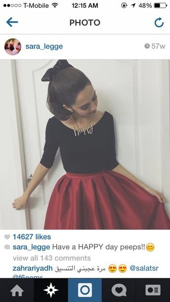 skirt red skirt