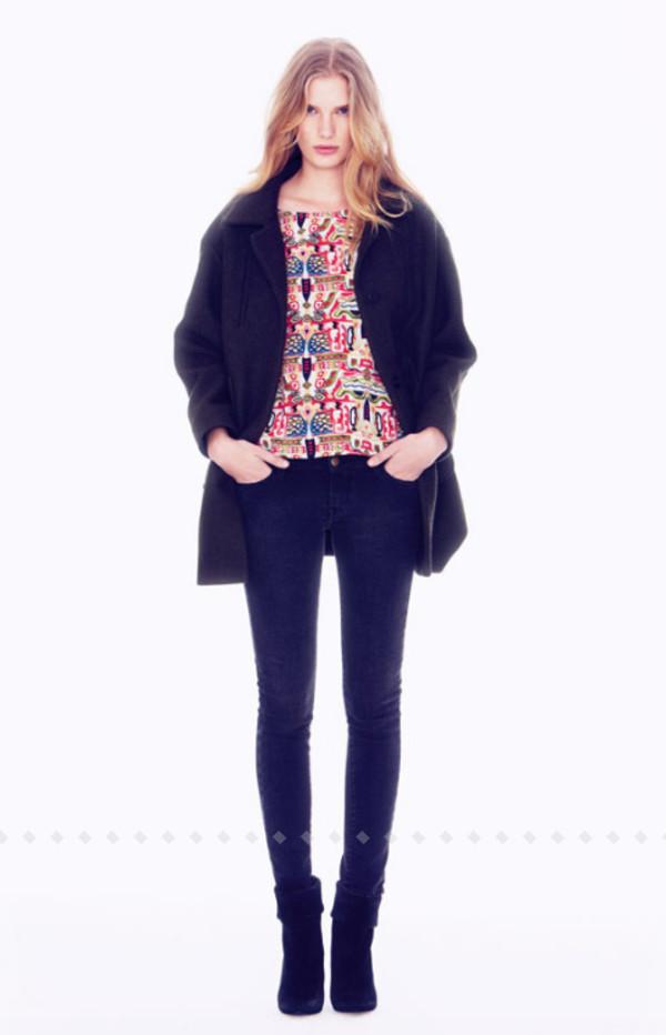 coat ba&sh fashion lookbook shirt