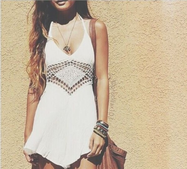 boho dress crochet summer dress
