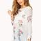Femme rose shredded sweater | forever21 - 2000109727