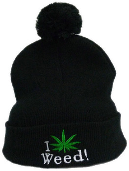 i love weed marijuana dope Beanie hats black warm winter knitted caps fashion hiphop sports cap hat cheap online Free shipping -in Skullies & Beanies from Apparel & Accessories on Aliexpress.com