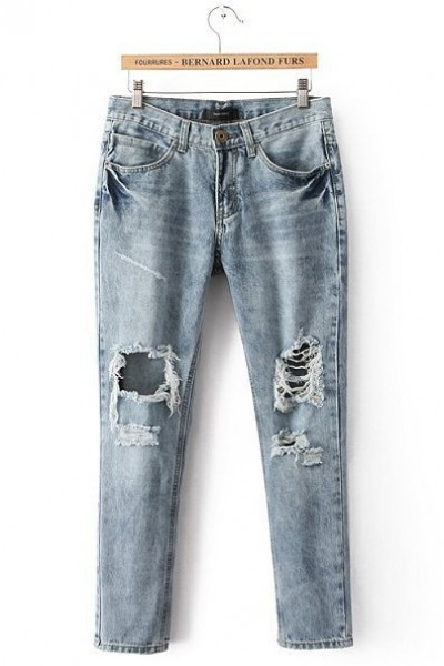 KCLOTH Washed Blue Jeans