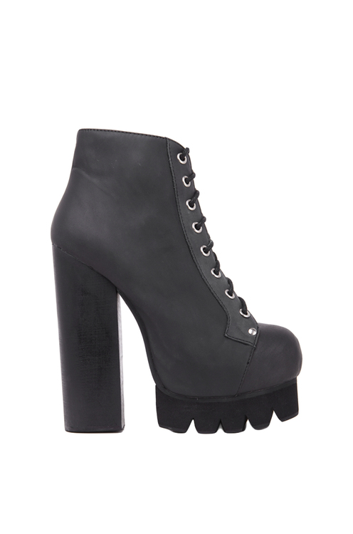 Jeffrey Campbell Nola Platform Boot in Black Washed