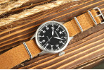 Leather NATO - 20mm Natural - Leather NATOs - Type - Crown and Buckle
