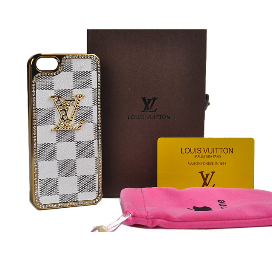 iphone 5s louis vuitton case louis vuitton iphone 5 5s real leather lv damier azur 7191