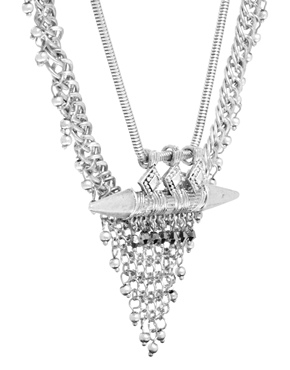 ASOS | ASOS Chainmail & Spear Necklace at ASOS