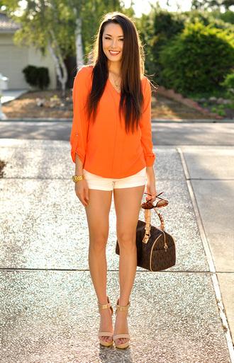 hapa time blouse shorts sunglasses shoes jewels bag
