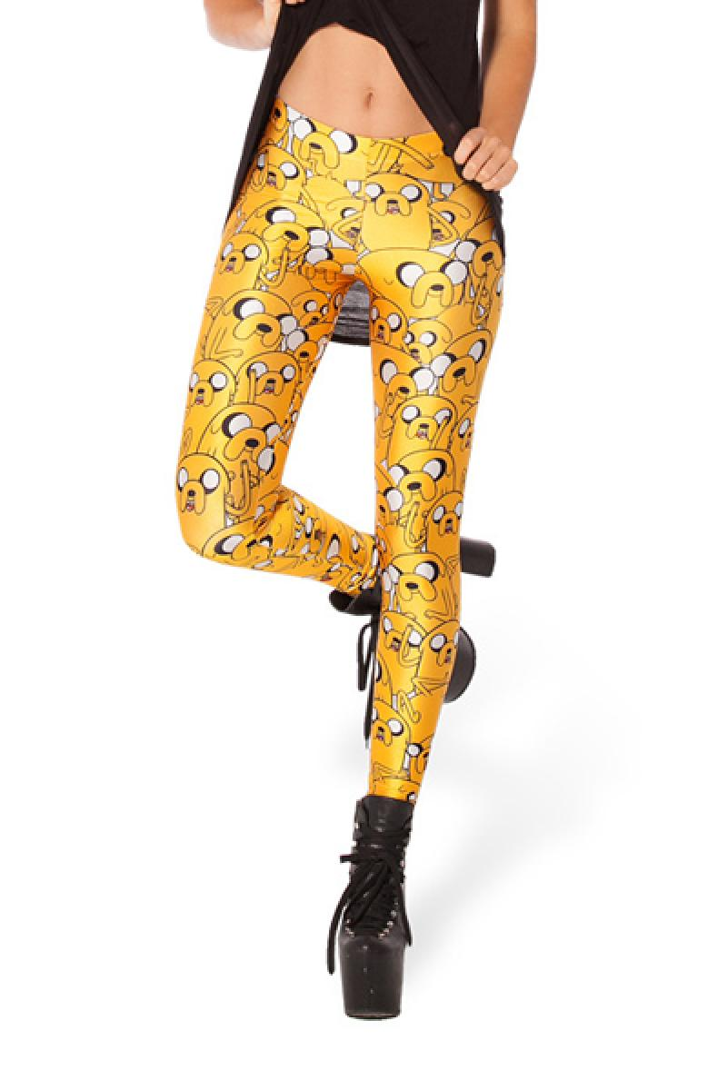 Colorful Personality Cartoon Pattern Skinny Leggings,Cheap in Wendybox.com